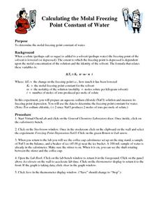 Calculating the Molal Freezing Point Constant of Water Lesson Plan