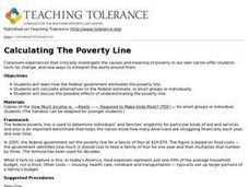 Calculating The Poverty Line Lesson Plan