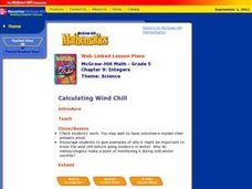 Calculating Wind Chill Lesson Plan