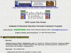 Calculator Addition Lesson Plan