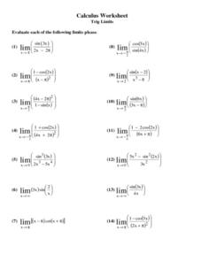 Derivatives of trig functions worksheet pdf