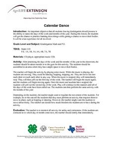 Calendar Dance Lesson Plan