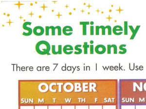 Calendar Math Worksheet