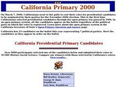 California Primary 2000 Lesson Plan