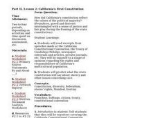 California's First Constitution Lesson Plan