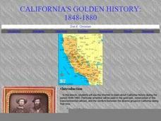 California's Golden History: 1848-1880 Lesson Plan
