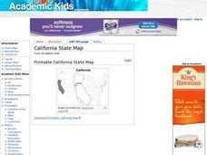 California State Map Worksheet