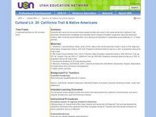 California Trail and Native Americans Lesson Plan