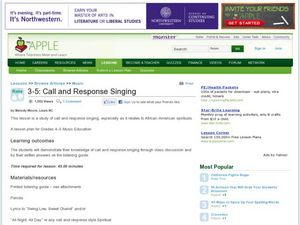 Call and Response Singing Lesson Plan