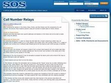 Call Number Relays Lesson Plan