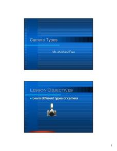 Camera Types Lesson Plan