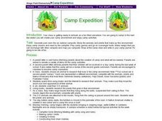 Camp Expedition Lesson Plan