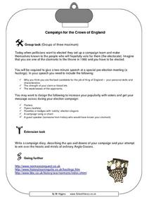 Campaign for the Crown of England Worksheet