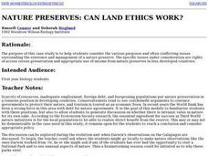 Can Land Ethics Work? Lesson Plan