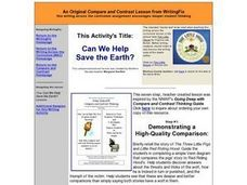 Can We Help Save the Earth? - A Compare and Contrast Lesson Lesson Plan
