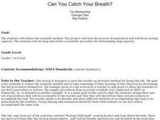 Can You Catch Your Breath? Lesson Plan