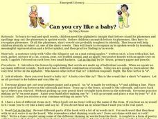 Can You Cry Like a Baby? Lesson Plan