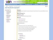 Can You Do It? I Can Do It! Lesson Plan