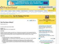 Can You Hear a Story? Lesson Plan