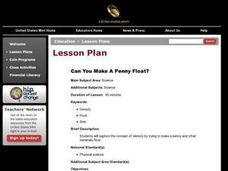 Can You Make A Penny Float? Lesson Plan