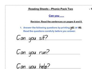 Can You...? Worksheet