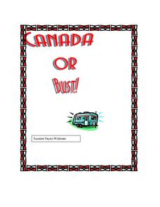 Canada Or Bust Lesson Plan