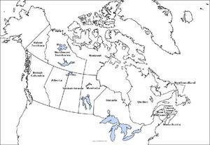Canada: Outline Map Worksheet