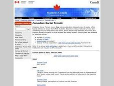 Canadian Social Trends Lesson Plan