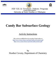 Candy Bar Subsurface Geology Lesson Plan