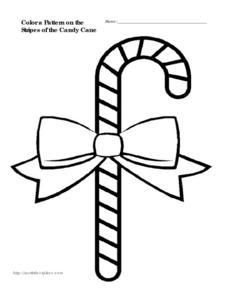 Candy Cane Patterns Worksheet