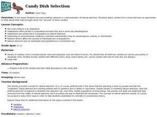 Candy Dish Selection Lesson Plan