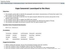 Cape Canaveral: Launchpad to the Stars Lesson Plan
