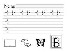 Capital Letter B Lesson Plan