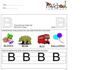 Capital Letters: B Worksheet