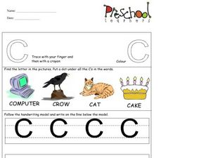 Capital Letters: C Worksheet