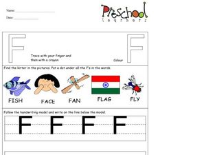 Capital Letters: F Worksheet