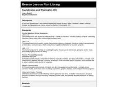 Capitalization and Washington, D.C. Lesson Plan