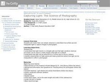 Capturing Light: The Science of Photography Lesson Plan