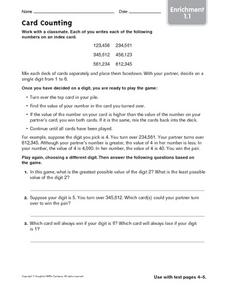 Card Counting Worksheet