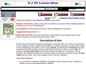 Card Sharks Dribble and Catch Lesson Plan