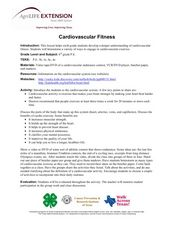 Cardiovascular Fitness Lesson Plan