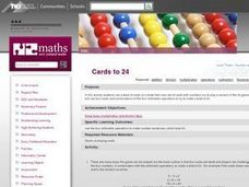 Cards to 24 Lesson Plan