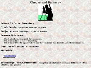 Career Inventory Lesson Plan