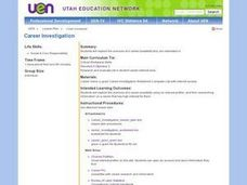 Career Investigation Lesson Plan