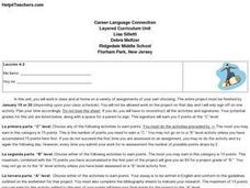Career-Language Connection Lesson Plan