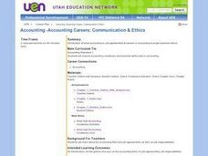 Careers: Accounting and Business Ethics Lesson Plan