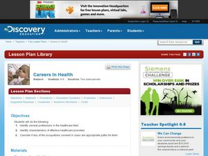 Careers in Health Lesson Plan