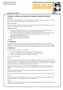 Careers in science and careers that support scientific research Lesson Plan