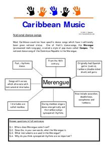 Caribbean Music: National Dances Worksheet