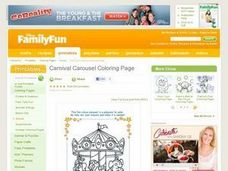 Carnival Carousel Coloring Page Lesson Plan